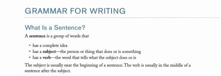 GREAT GRAMMAR FOR WRITING