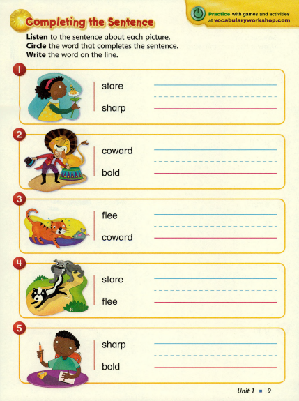 Instructional Approach vocabulary Workshop